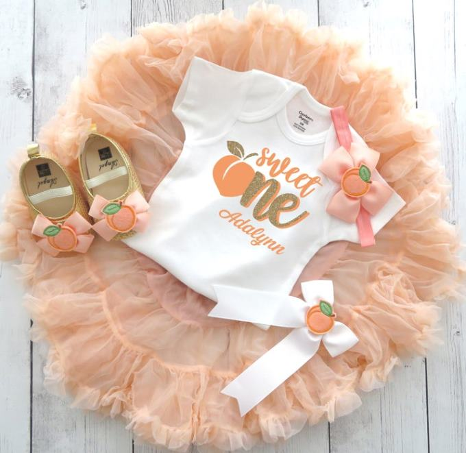 One Sweet Peach 1st Birthday Outfit