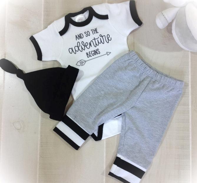 Baby Boys Adventure Begins Newborn Pants Set