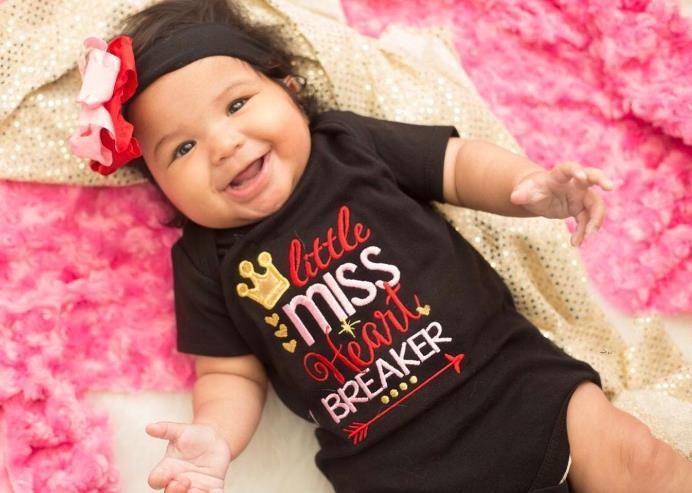 Little Miss Heart Breaker Valentine Bodysuit