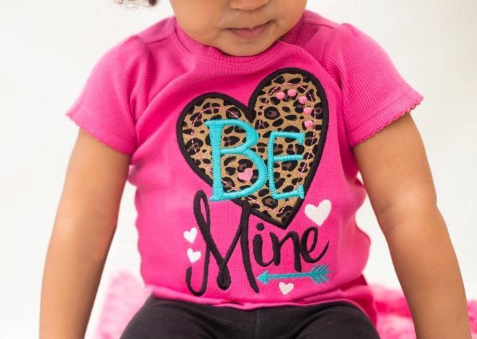 Hot Pink Be Mine Leopard Heart Bodysuit