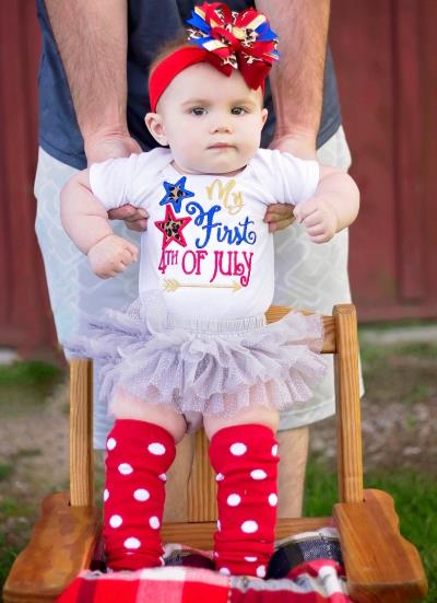 Baby Girls My First 4th of July Bodysuit