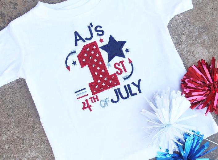 Baby's 1st 4th of July Personalized Bodysuit