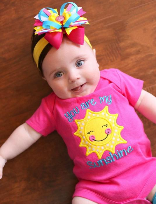 You are My Sunshine Pink & Yellow Bodysuit