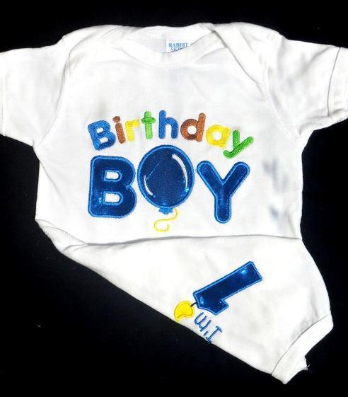 First Birthday Boy Bodysuit