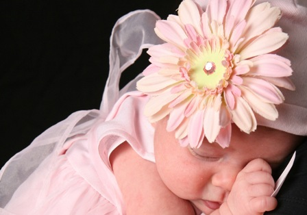Pale Pink Daisy Flower Hat