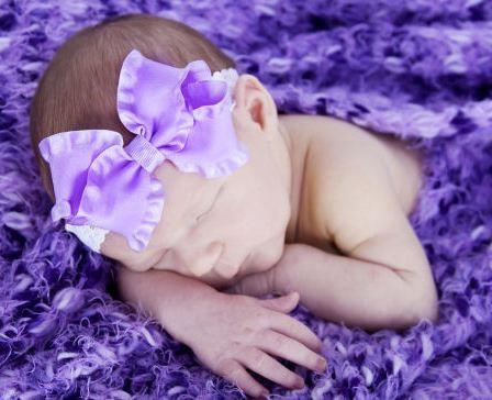 Bitty Baby Double Ruffle Ribbon Lace Headband