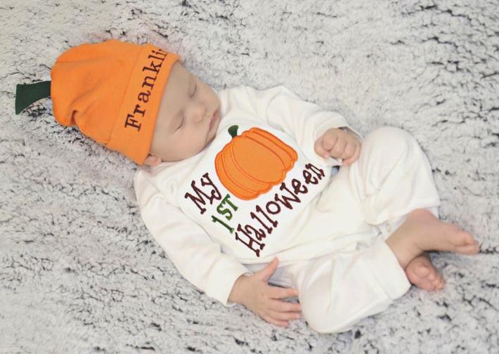 Baby Boys Little Pumpkin First Halloween Costume Outfit